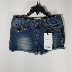 Hudson Kids Studded Mini Jean Shorts